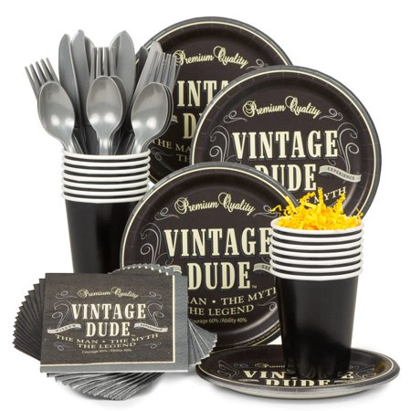 Vintage Dude Standard Tableware Kit (Serves 8) - Party Supplies](Vintage Dudes)
