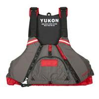 Yukon 13008-06-C-DR Epic Paddle Vest, Carbon & Deep Red - 2XL & 3XL
