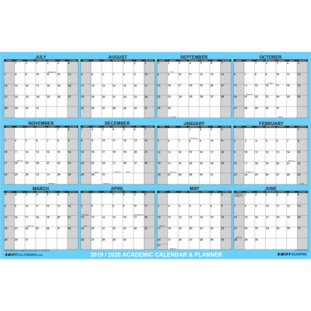 Large Wall Calendar 2020 32x48 SwiftGlimpse 2019 2020 Academic Wall Calendar Erasable Large