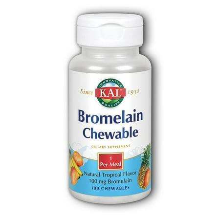 Bromelain Chewable Kal 100 Tabs