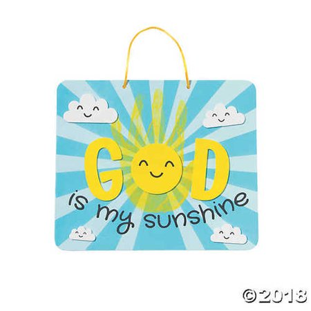 God Is My Sunshine Sign Handprint Craft - Turkey Handprint Craft