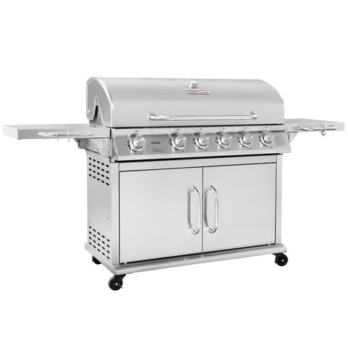 Royal Gourmet Corp Pre Assembled 6 Burner Propane Gas Grill With Infrared  Burner