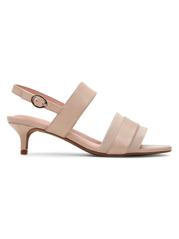 Odette Water-Resistant Heeled Slingback Sandals