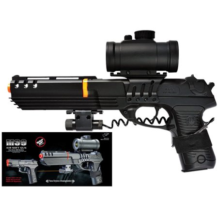 DOUBLE EAGLE KS-91 SPRING AIRSOFT GUN PISTOL W RED DOT SCOPE & RED LASER (Best Red Dot Sight Airsoft)