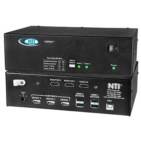 - NTI VOPEX-USBHA-4 4-Port DVI/HDMI USB KVM Splitter with Audio w/2-Yr Warranty