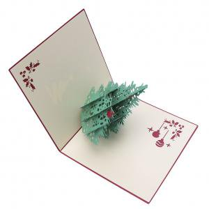 Fancyleo Hollow Creative Christmas Tree Handmade Pop Up Greeting Holiday Cards Gifts for Xmas/New - Hollow Tree