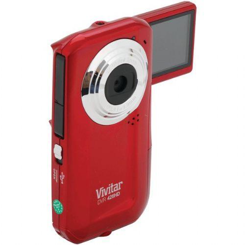 VIVITAR DVR426HD-RED-SOL 5.1 MEGAPIXEL DVR426 DIGITAL VIDEO CAMERA (RED)