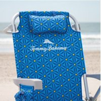 Tommy Bahama 5 Position Blue/Yellow Beach Chair