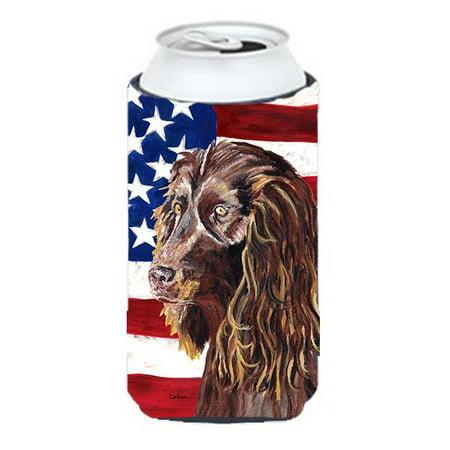 Boykin Spaniel Usa American Flag Tall Boy bottle sleeve Hugger - image 1 de 1