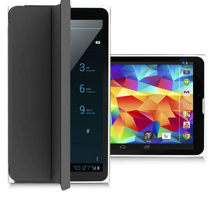 "Indigi® 7.0"" Unlocked 3G Smart Phone 2-in-1 Phablet Android 4.4 Tablet PC w/ Built-in Smart Cover AT&T T-Mobile (Black)"