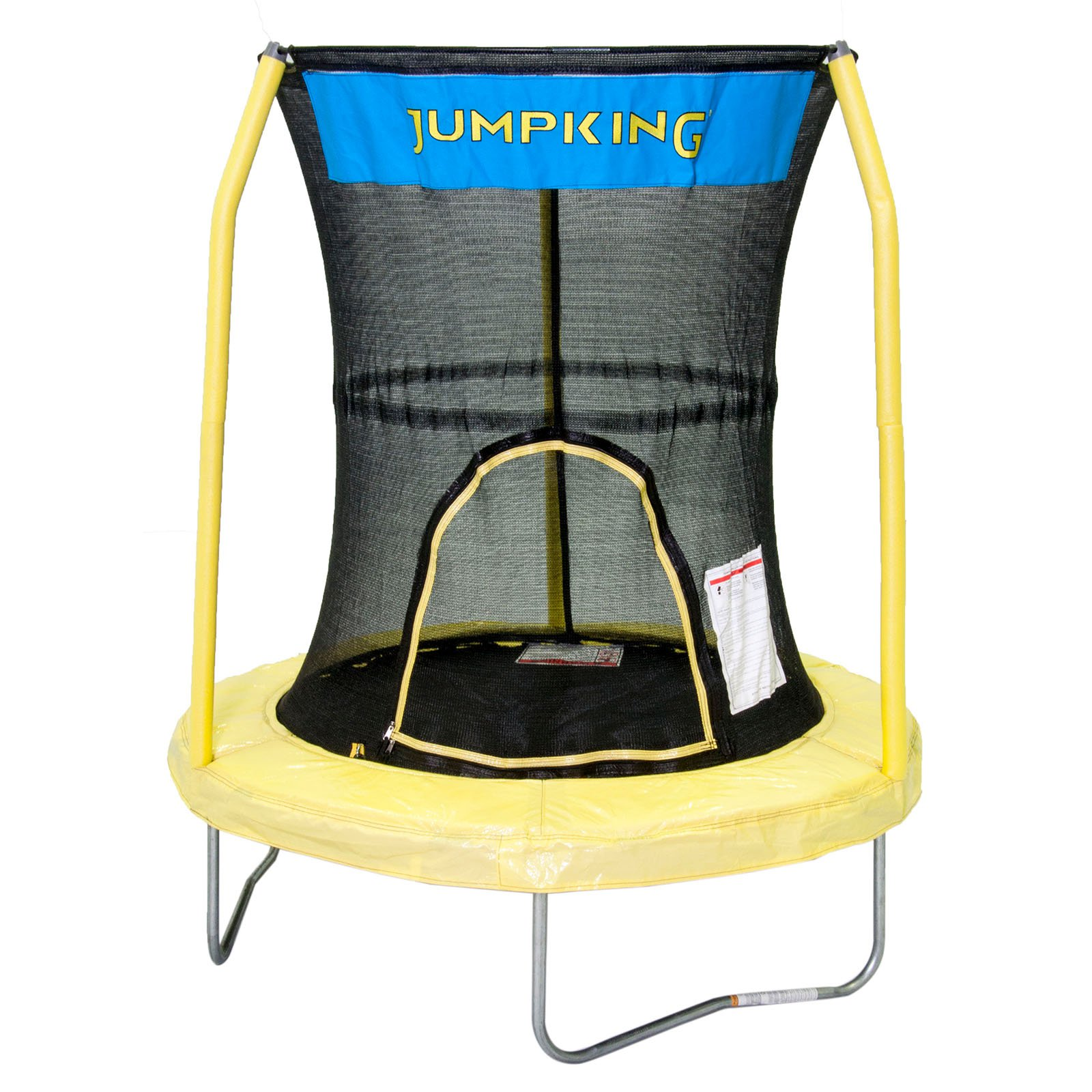 JumpKing 55-Inch Trampoline, with Safety Enclosure, Yellow