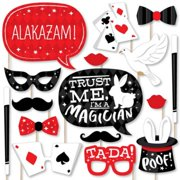 Ta-Da, Magic Show - Magical Birthday Party Photo Booth Props Kit - 20 Count