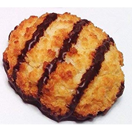 Poppies Belgium Gluten Free Chocolate Flavored Coconut Macaroon Single Serve Cookies, 1.4 Oz (24 Pack) Gluten Free Cookie Dough