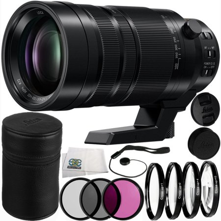 Panasonic Leica DG Vario-Elmar 100-400mm f/4-6.3 ASPH POWER O.I.S. Lens 12PC Accessory Kit. Includes Manufacturer Accessories + 3PC Filter Kit (UV-CPL-FLD) + 4PC Macro Filter Set (+1,+2,+4,+10) +