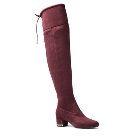7ddc623f46c MICHAEL Michael Kors - Jamie Zip Suede Over-The-Knee Boots - Walmart.com