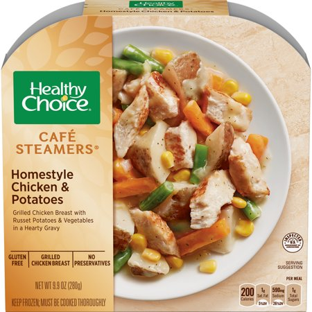 Healthy Choice Cafe Steamers Frozen Dinner, Homestyle Chicken & Potatoes, 9.9