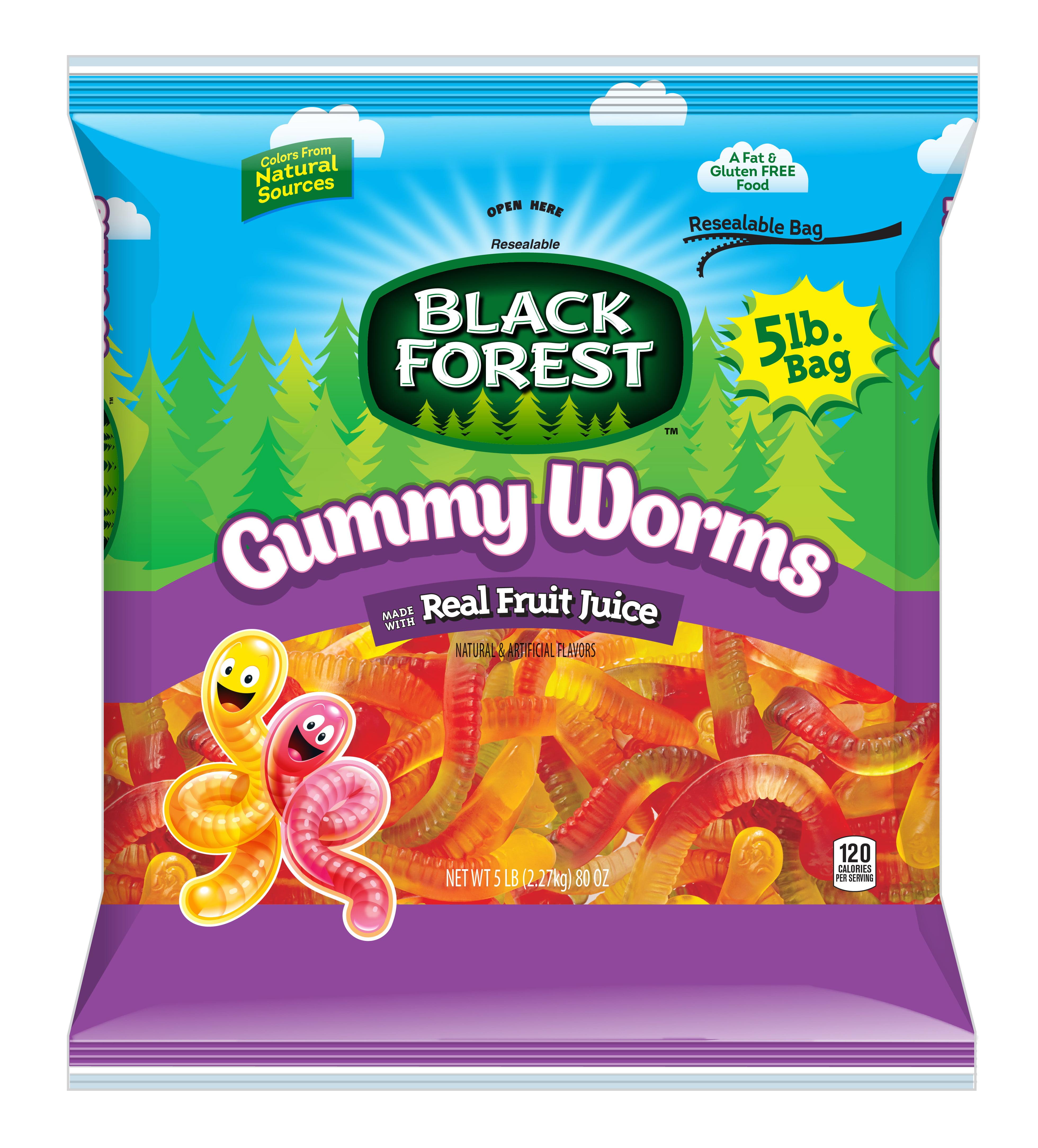 Ferrara Candy Company Black Forest Gummy Worms, 5 Lb