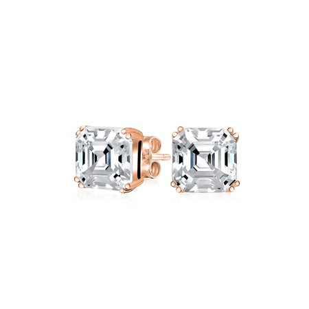 ec1d54f36189d .50Ct Cubic Zirconia Solitaire Square AAA CZ Asscher Cut Stud Earrings For  Women Rose Gold Plated 925 Sterling Silver | Walmart Canada