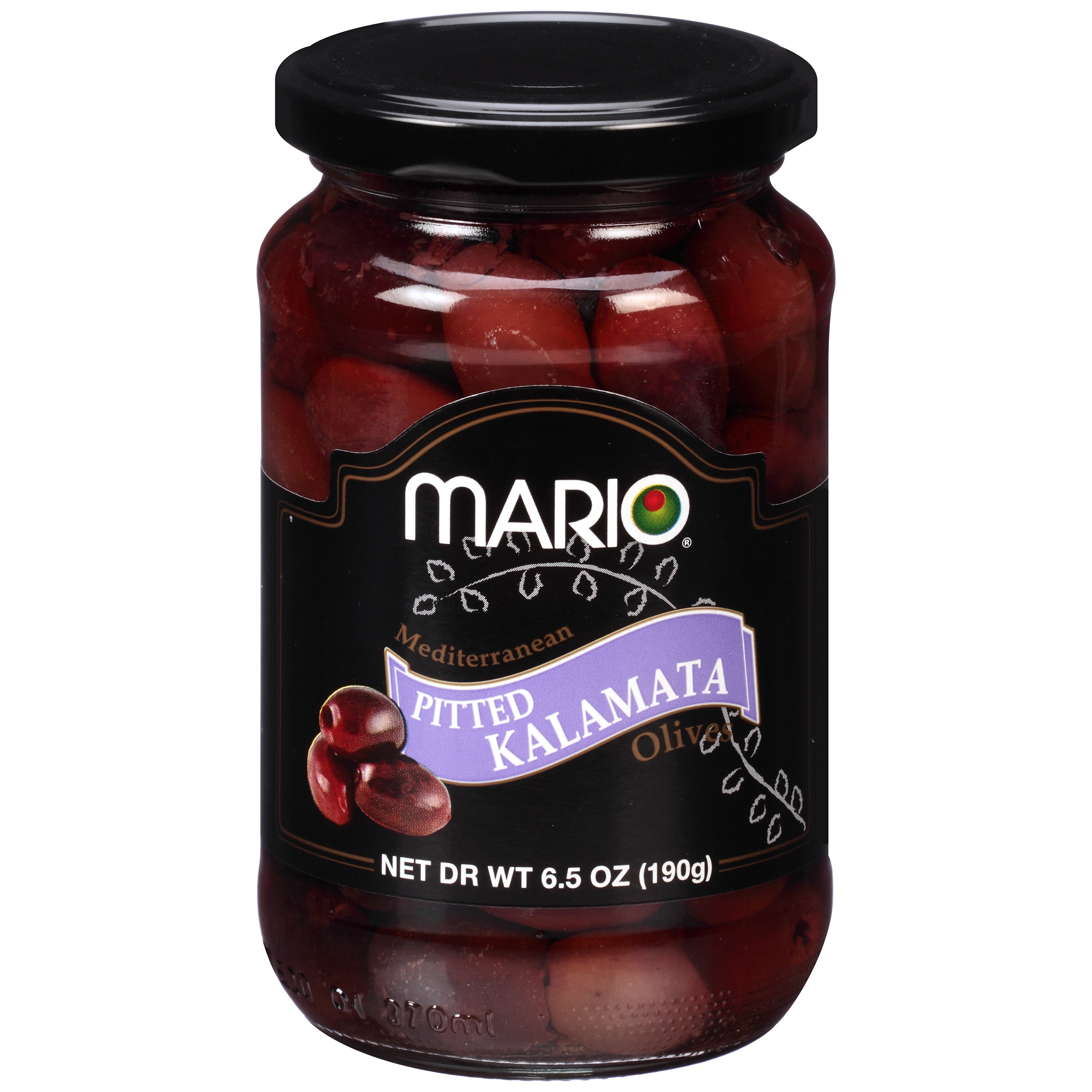 (2 Pack) Mario Mediterranean Pitted Kalamata Olives, 6.5 oz