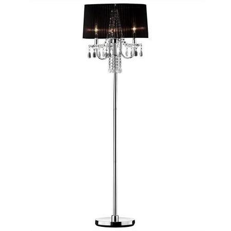 Ok Lighting Crystal Drop Floor Lamp 59 75 Chrome