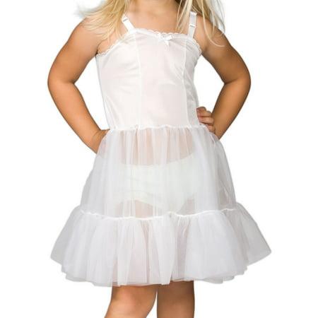 I.C. Collections Girls White Bouffant Sweetheart Slip Petticoat, 2T - 14 (Nylon Petticoats)
