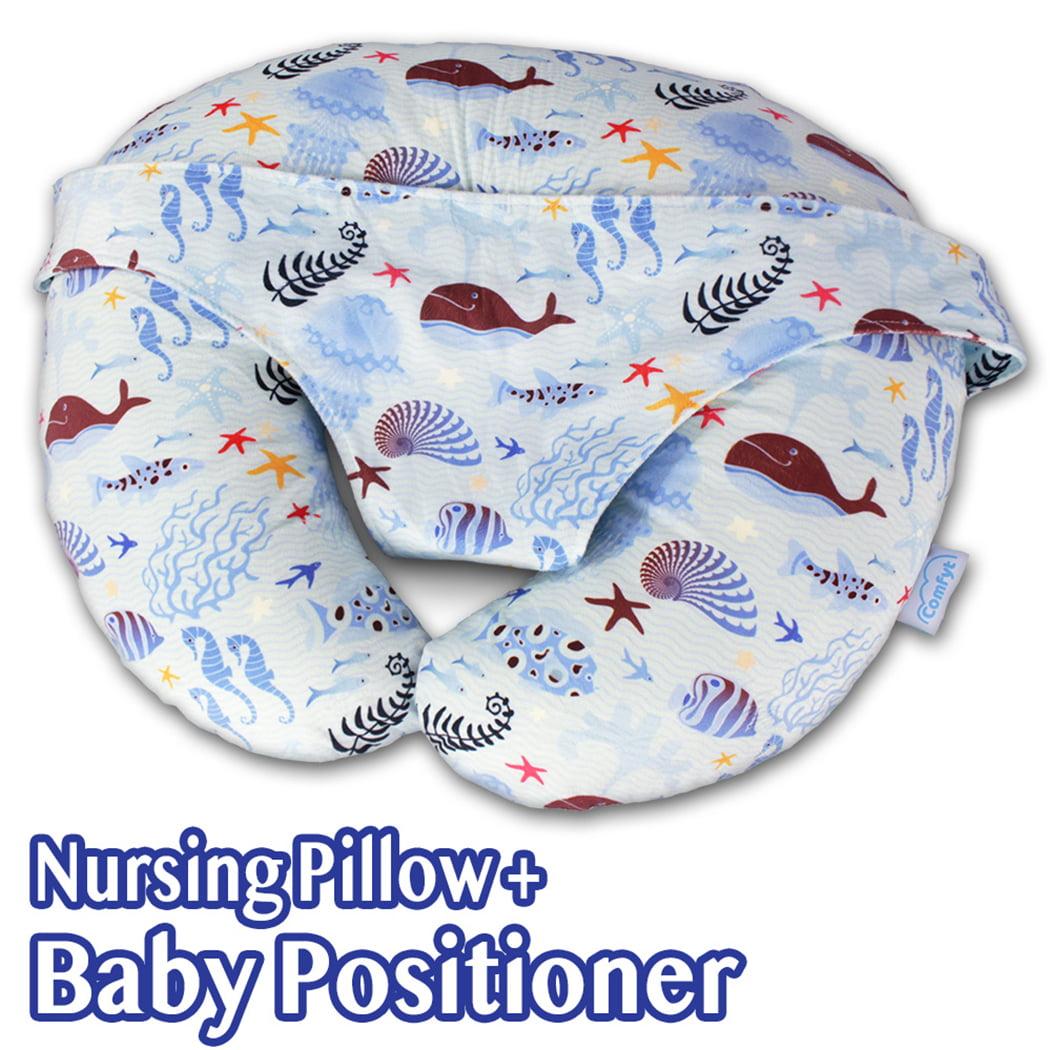 Cactus Baby Breastfeeding Nursing Pillow and Positioner,Machine Washable U Shape Nursing and Infant Support Pillow Bonus Head Positioner