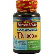 Nature Made Vitamin D3 1000 IU Softgels, 180 Ct
