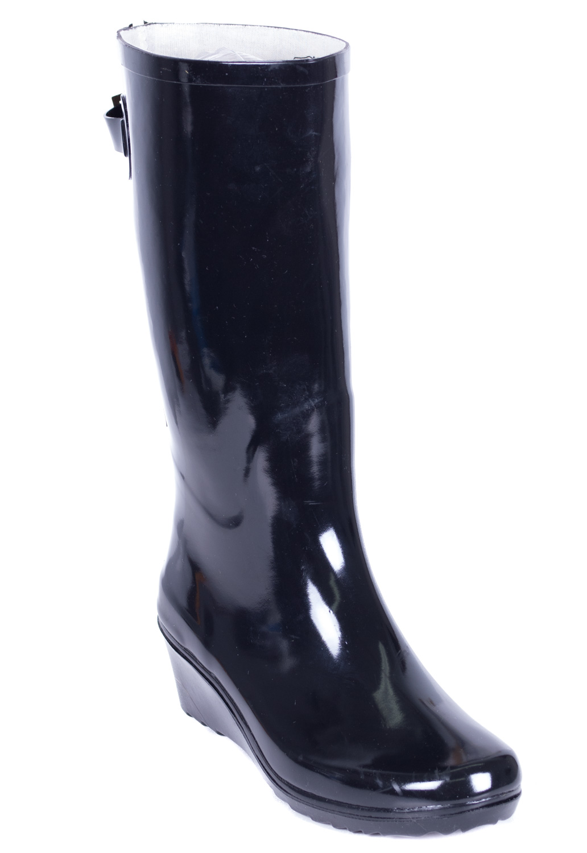 Women Rubber Rain Boots, Wedge w