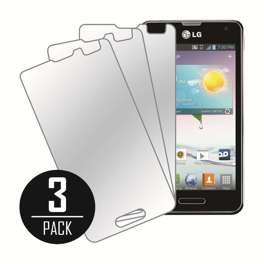LG Optimus F3 Mirror Screen Protector Cover, MPERO Collection 3 Pack of Mirror Screen Protectors for LG Optimus F3