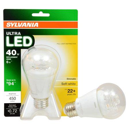 Sylvania Ultra Led Soft White 40 Watt Replacement 6 Watt