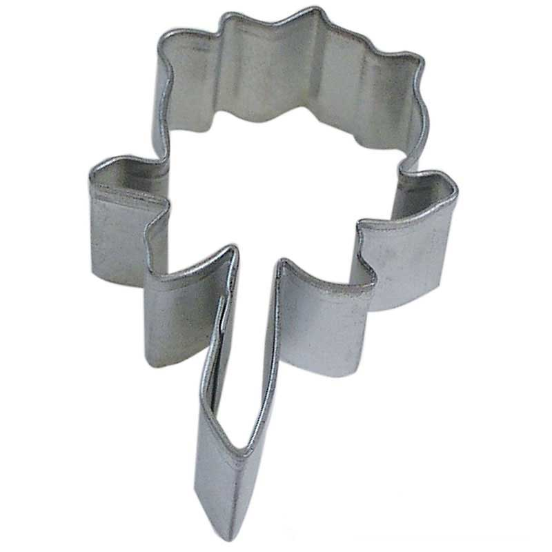 Rose Tin Cookie Cutter 3 in B0902 - R&M Brand Cookie Cutters - Tin Plate Steel