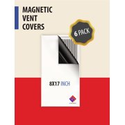 "Magnetic Vent Cover. Perfect for HVAC in RV or Home - 8"" x 17"" (6 Pack)"