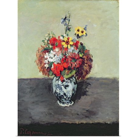Paul Cezanne Vases (Great BIG Canvas | Rolled Paul Cezanne Poster Print entitled Flowers in a Delft vase, c.1873 75 )