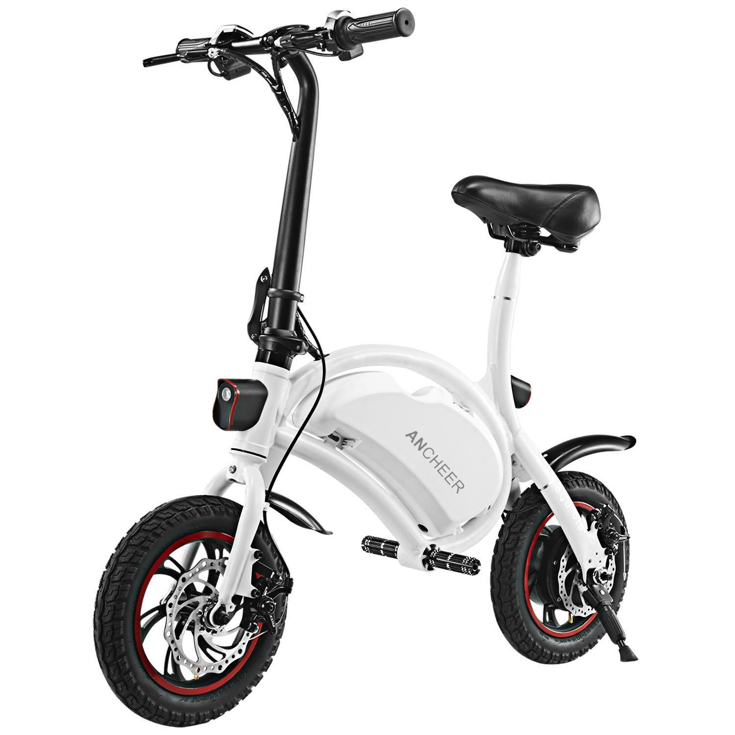ANCHEER Bluetooth System+APP Control Folding Electric Bike 350W 36V 6AH Lithium Battery Smart Electric Bicycle With Automatic Headlight