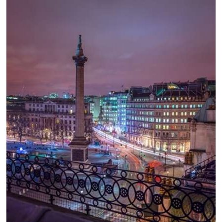 Evening view of Trafalgar Square  London  UK Poster Print by Assaf Frank (12 x - Halloween Evening Events London