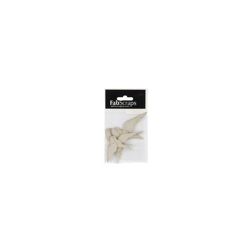 "Die-Cut Grey Chipboard Embellishments-Sailor Swallows 3/Pkg, 3.25"" To 4.375"""