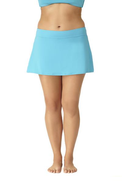 Anne Cole Women's Plus Size Live In Color Rock Classic Swim Skirt Bottom