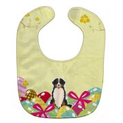 Carolines Treasures BB6036BIB Easter Eggs Bernese Mountain Dog Baby Bib