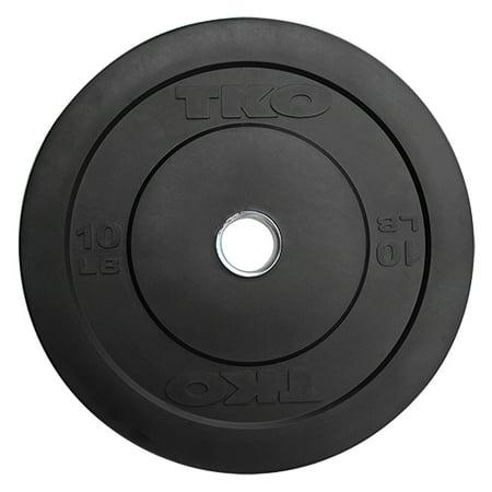 TKO 10 lb. Rubber Bumper Plate