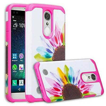 LG Aristo 2 Plus, LG Aristo 2,LG K8 Plus, LG K8 2018,LG Risio 3,LG Fortune 2,LG ,Rebel 3,LG Zone 4 Case Protective Hybrid Diamond Soft Silicone Phone Case Cover for Girls Women - Sun (Zune Silicone Cover)