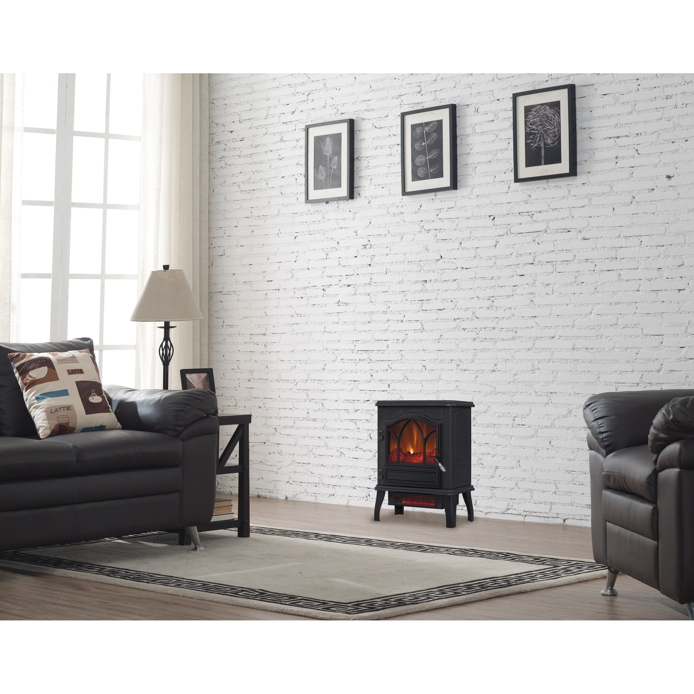 Chimneyfree Electric Infrared 5 Heater Stove Quartz 200 Btu Black