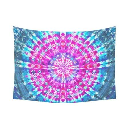 Gckg Trippy Tie Dye Mandala Hippie Psychedelic Tapestry Horizontal