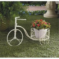Zingz & Thingz 57071195 White Tricycle Planter & Plant Holder Display Whimsy
