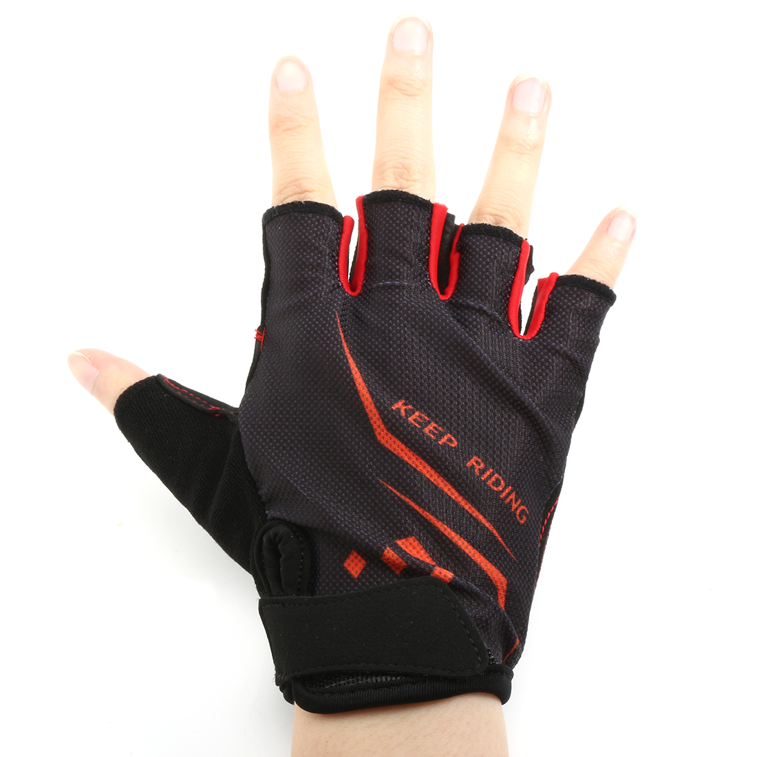 Breathable Cycling Bike Gloves Half Finger Antishock Outdoor Execrise