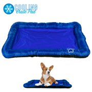 "Pet Dog Self Cooling Crate Kennel Cage Cushion Pad Gel Bed Mat, 36"" x 23"" Navy Blue"