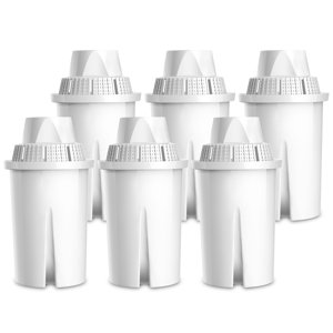 6 Pack AQUACREST Classic Replacement for Brita classic, Mavea 107007 Pitcher Water Filter