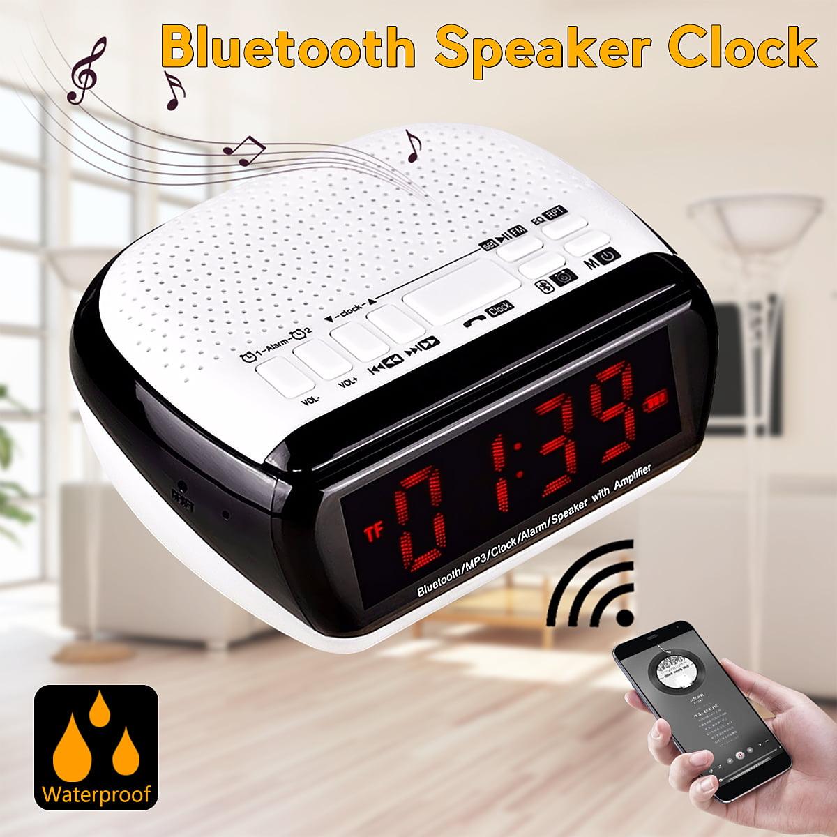 acd1ecb7bdb Bluetooth Digital Alarm Clock Stereo Speaker LED Display FM Radio MP3  Player USA - Walmart.com