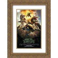 Teenage Mutant Ninja Turtles 20x24 Double Matted Gold Ornate Framed Movie Poster Art Print