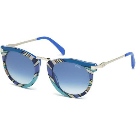 EMILIO PUCCI EP 0025 Sunglasses 89W - Turquoise Sunglasses