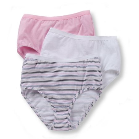 Women's Fruit Of The Loom 3DBRIAS Cotton Brief Panties - 3 Pack